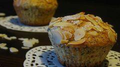 Лимонно-маковые кексы с миндалем
