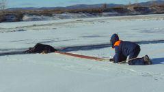 Как спасти провалившегося под лед