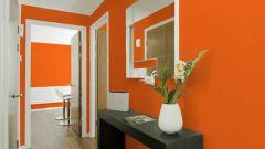 Заряд бодрости с порога: оранжевая прихожая