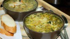 Куриный суп с рисом и орехами