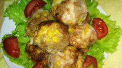 Фрикадельки с сыром и кукурузой