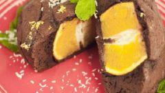 Шоколадный пудинг с апельсином