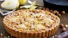 Пирог с грейпфрутом и грушей