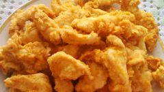 Рыбные наггетсы с сыром