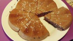 Творожное желе с ванилью и какао