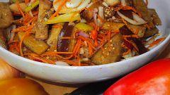 Готовим баклажаны по-корейски