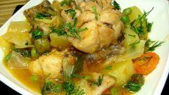Апельсиновое рагу из курицы и картофеля