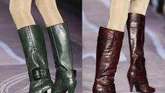 С чем носить  высокие сапоги с узким голенищем