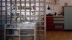 Как сделать перегородку из стеклоблоков