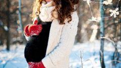 Как провести фотосессию беременной зимой