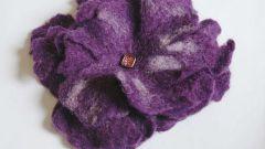 Мокрое валяние: как создать цветы из шерсти