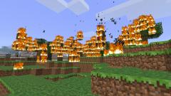Как добыть огонь в Майнкрафт