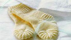 Как вязать носки без шва на двух спицах