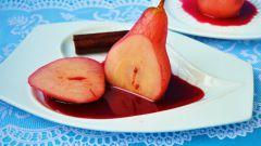 Как приготовить груши в красном вине