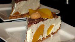 Шоколадно-персиковый чизкейк