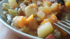 Как приготовить овощное рагу с куриной грудкой