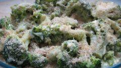 Запеченная брокколи со сливками