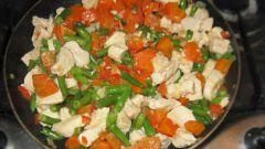 Кускус с овощами и куриным филе