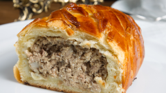 Кулебяка с мясом: рецепт приготовления