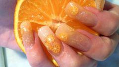 Как нарисовать на ногтях апельсин