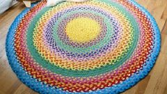Как сделать коврик из ниток