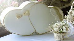 Как сделать сундучок для денег на свадьбу в форме сердца