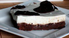 Шоколадно-молочные пирожные