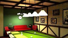 Как создать интерьер бильярдной комнаты