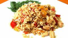 Курица, запеченная с рисом