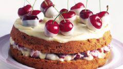 Как приготовить пирог с белым шоколадом и вишней?