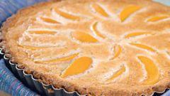Персиковый пирог с мускатным орехом