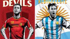 1/4 финала ЧМ 2014 по футболу: Аргентина - Бельгия