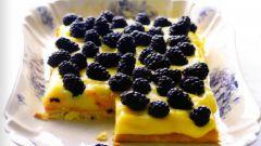 Бисквитный пирог с лимонным кремом