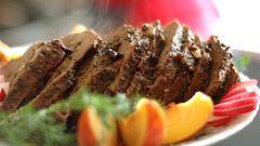 Эскалоп из говядины в сливочном соусе