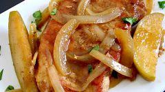 Свинина с яблочным соусом