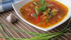Грибной суп с красной фасолью