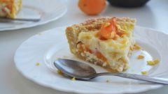 Как приготовить пирог с абрикосами и сливочным сыром