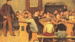 Как учились дети крестьян