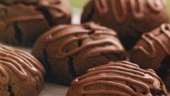 Шоколадное печенье с миндальной глазурью