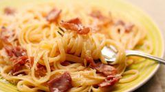 Как приготовить спагетти с ветчиной