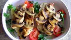 How to cook marinated mushrooms