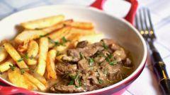 Бефстроганов из говядины – изыск русской кухни