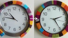 Простая идея: вязаная рамка для часов