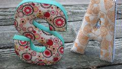 Как сшить буквы из ткани своими руками