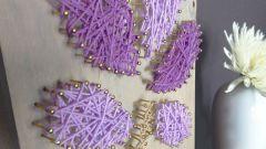 Как сделать панно из ниток и гвоздей