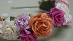 Ободки с цветами делаем сами