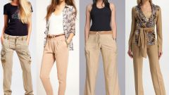 С чем носить бежевые брюки