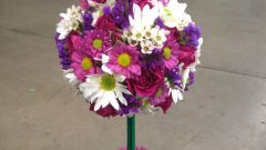 Как сделать топиарий из живых цветов своими руками