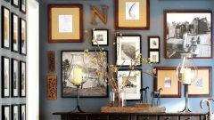 Как интересно расположить картины на стене