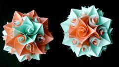 Как сделать цветочные шары кусудамы из модулей